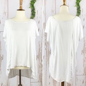 Sun & Shadow Oversize White Slub Cotton Tee BOGO!